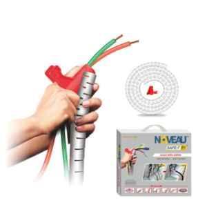 Noveau Safe-T-1ST 40mm 1.5mm Virgin HDPE White Cable Zipper with Colour Box, NSFZ40WT1105