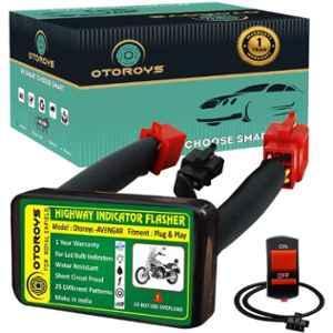 Otoroys 25 Mode Patterns Universal Bike Hazard Flasher Relay for LED Bulb Indicators, OTOAVENGER