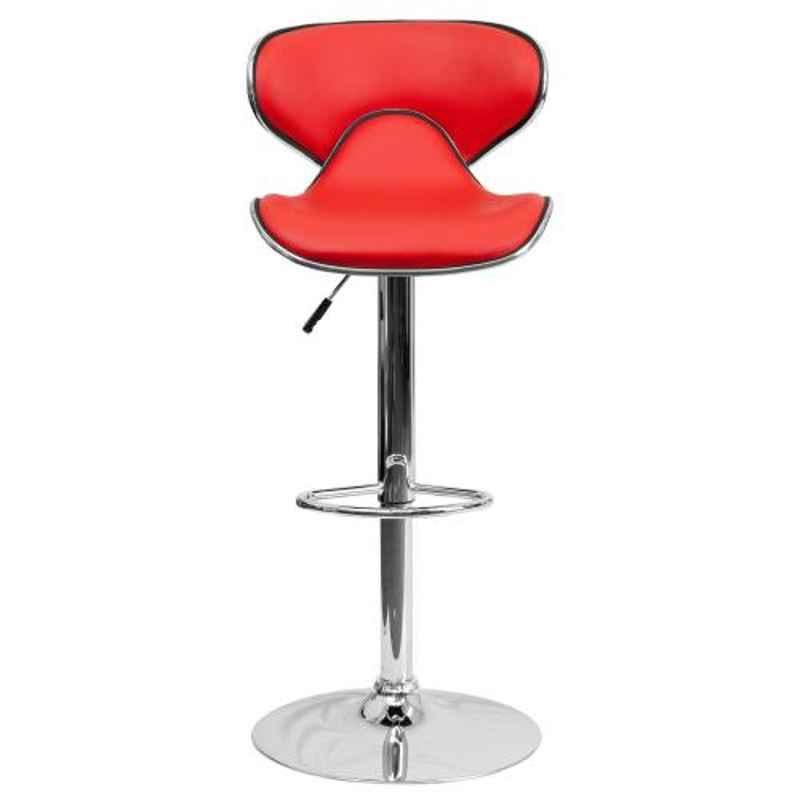 Steelcraft KBSTR06 Red Leatherette Upholstery Seat Bar Stool
