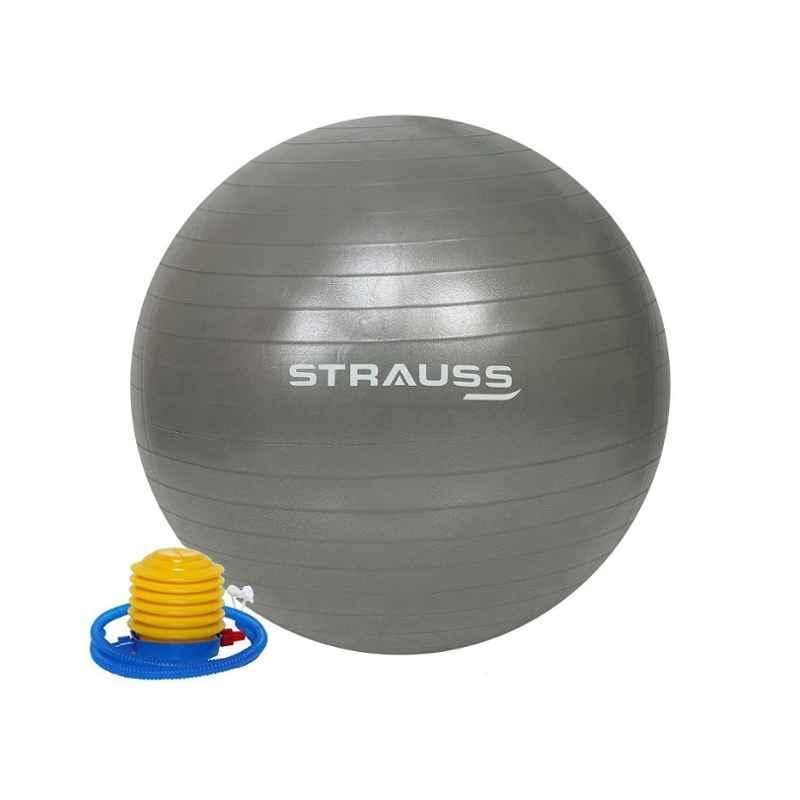 Strauss 75cm Purple PVC Anti Burst Gym Ball with Foot Pump, ST-1477