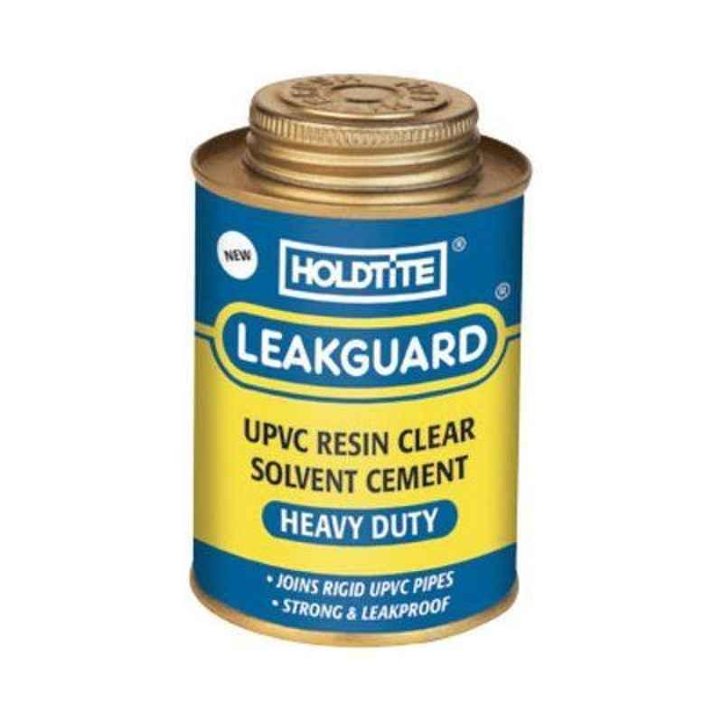 Holdtite Leakguard 100ml Resin Clear UPVC Solvent Cement (Pack of 48)