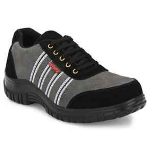 Kavacha S75 Leather Steel Toe Grey Safety Shoes, Size: 10