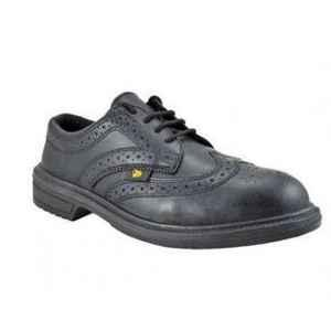 JCB Executive Steel Toe Black Safety Shoes, Size: 8