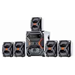 I kall 5.1 Channel Black & Red Bluetooth Multimedia Speakers