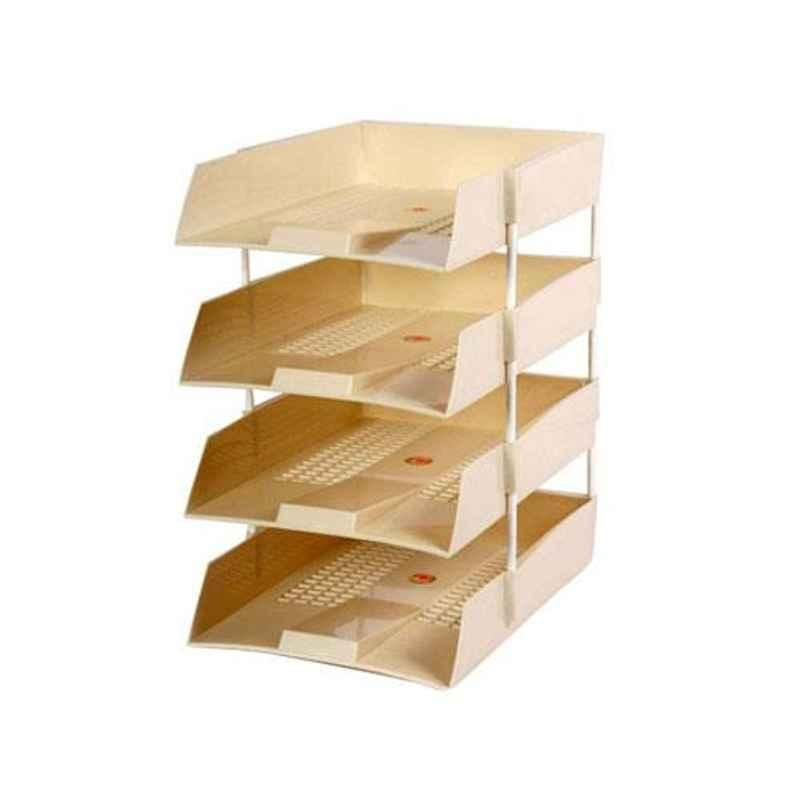Omega Assorted 4 Tier Office Tray with Riser, 1718PP (Pack of 3)