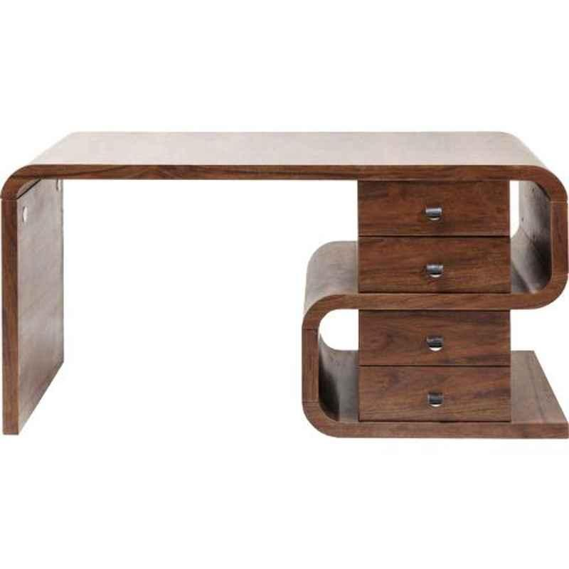 The Attic 140x60x76cm Sheesham Wood Honey Cambrai Study Table, KL-2037