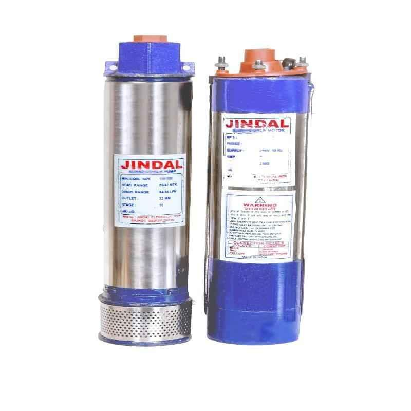 Jindal 1 HP Oil Filled Borewell Submersible Pump with Control Panel