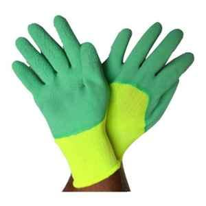 SSWW Light Green with Green Latex Foam Coated Gloves