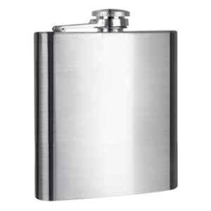 A-One 198ml Compact Silver Stainless Steel Durable Solid Compact Pocket Hip Flask
