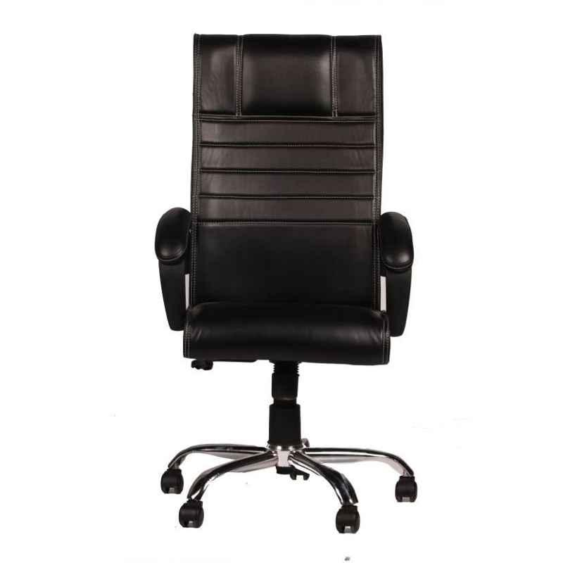 Mezonite Black High Back Synthetic Leatherette Office Executive Chair (Pack of 2)