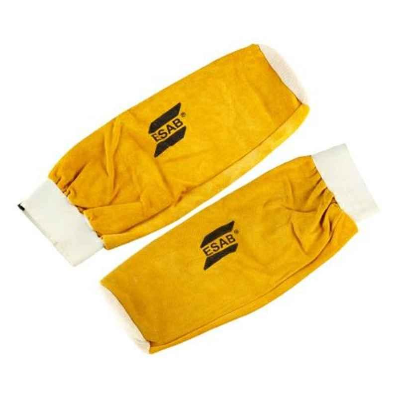 ESAB Yellow Leather Welding Hand Sleeve, Size: Standard