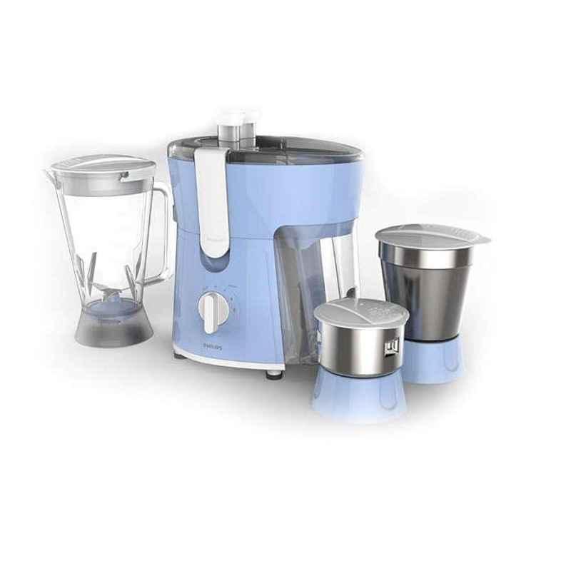 Philips 600W Celestial Blue & Bright White Juicer Mixer Grinder, HL7576/00