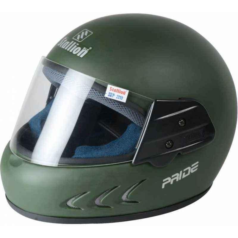 Stallion BLK Pride Plus Full Face Military Motorbike Helmet, Size: M