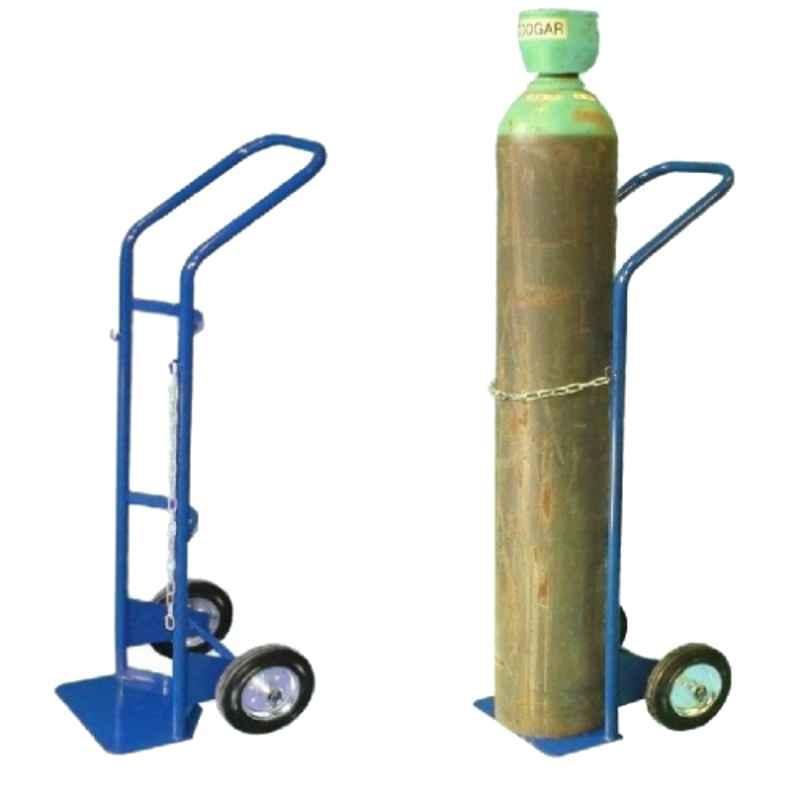 Suwas 46x30x140cm Steel Oxygen Gas Cylinder Handling Trolley, SU-OT-001