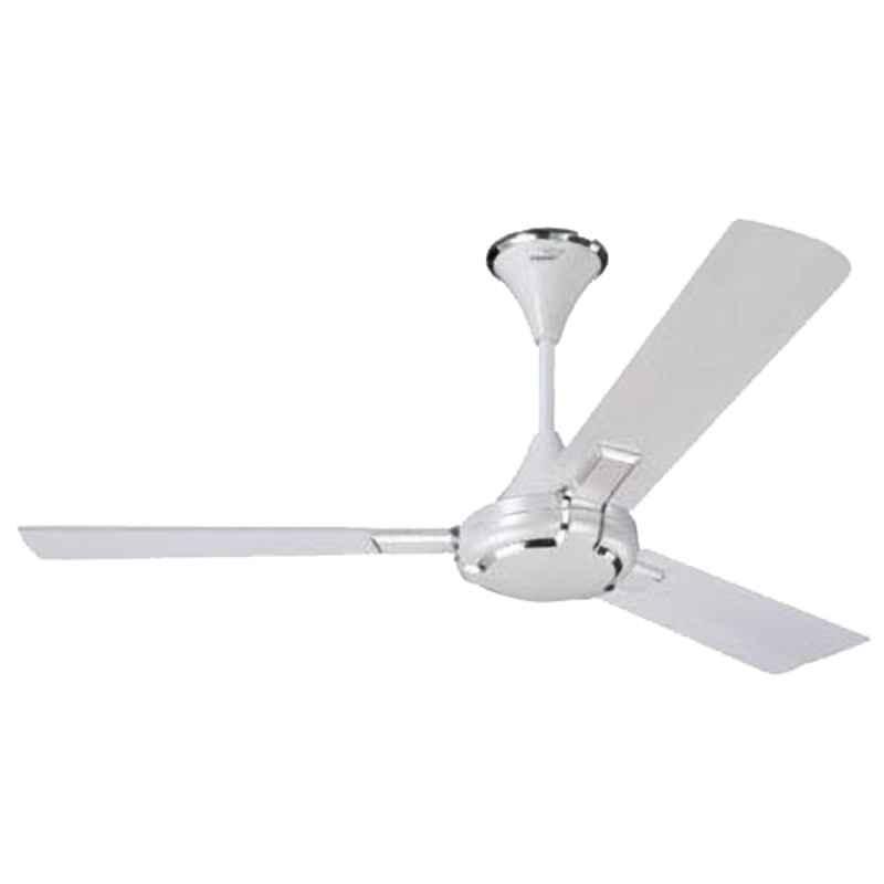V-Guard Glado Prime 400rpm Pearl White Silver 3 Blade Ceiling Fan, Sweep: 1200 mm