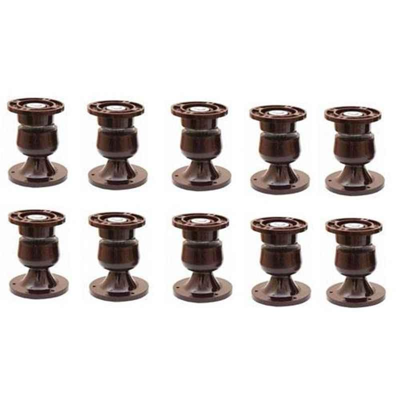 Nixnine Plastic Brown Magnetic Door Stopper, NO-5_BRN_12PS_A (Pack of 12)