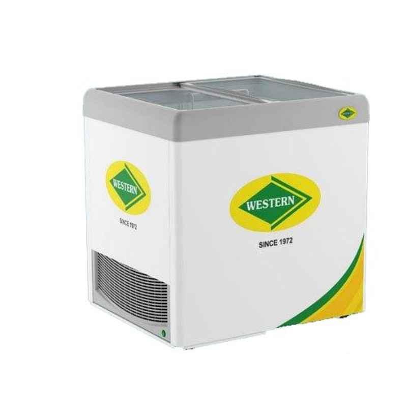 Western 226L Glass Top Units Single Door Deep Freezers, NWHF225G