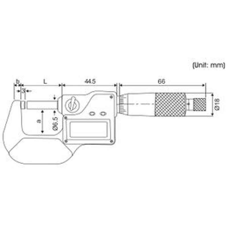 Yamayo 75-100mm Digimatic Outside Micrometer