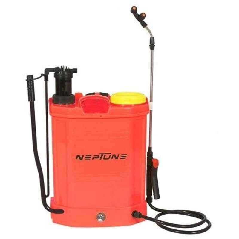 Neptune 16L 12V 2-in-1 Hand Cum Battery Operated Knapsack Red Garden Sprayer, BS-25