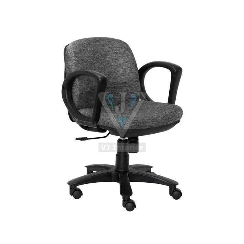 VJ Interior 17 inch Gray Revolving Computer Chair, VJ-1051