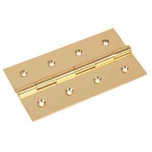 Smart Shophar 3x.75x1.5 inch Brass Gold Butt Hinge, SHA10HG-BUTT-GL3X.75X1.5-P1