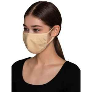 Clovia MASK24P24 3 Ply Washable Beige Face Mask (Pack of 10)