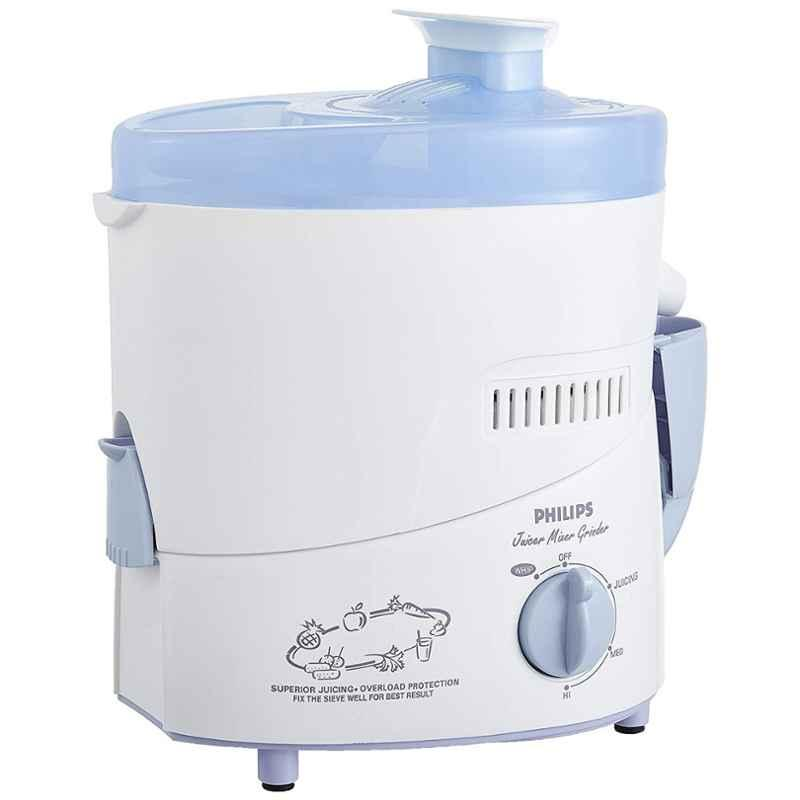 Philips White & Blue Juicer Mixer Grinder with 2 Jars, HL1631/00