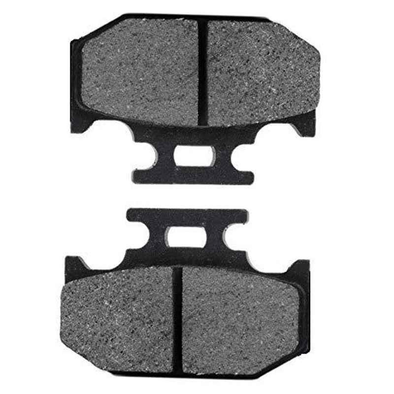 AOW Rear Brake Disc Pad Compatible for Yamaha R15 Version 3 (Black) E-09