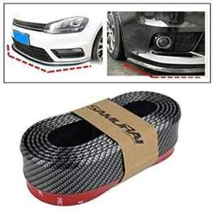 Automaze Black Carbon 2.5M Car Rear Side Body Bumper Protector with 3M Tape & Screws