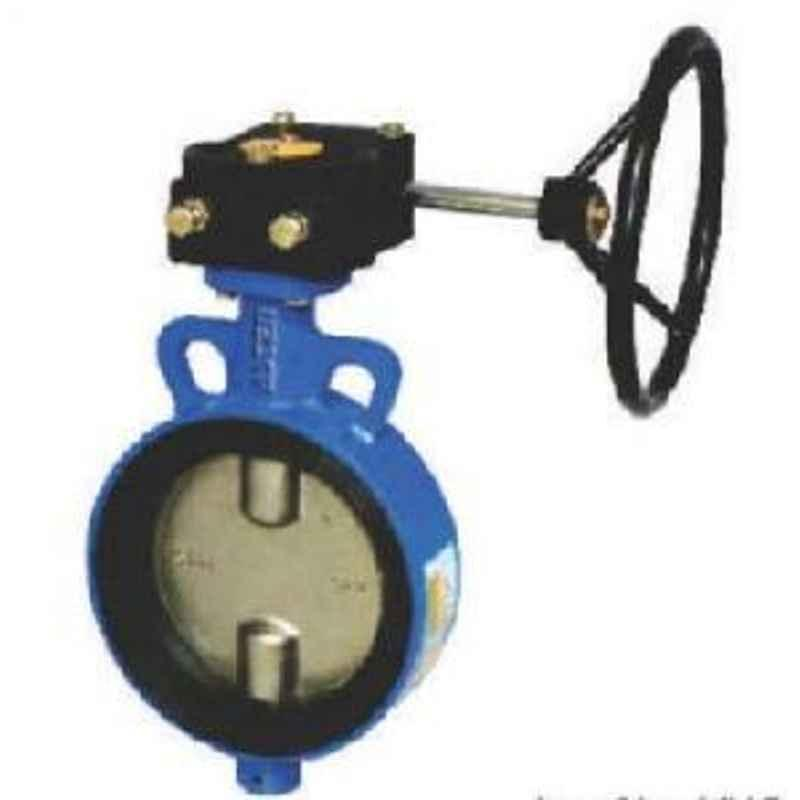ALIS 300 mm S.G. IRON Disc Nitrile Moulding Seat Gear Operated Butterfly Valve PN10 ABFV-G-300