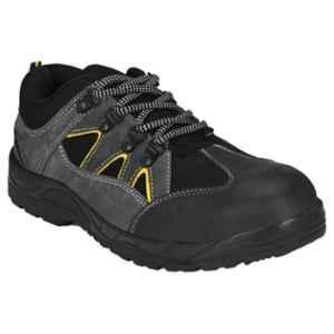 Kavacha Rhino Leather Steel Toe Grey Safety Shoes, Size: 9