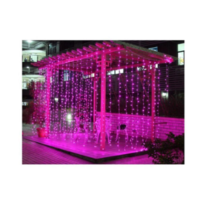 Ever Forever 10X10Ft Pink Colour Waterfall Style LED Curtain String Light with Controller