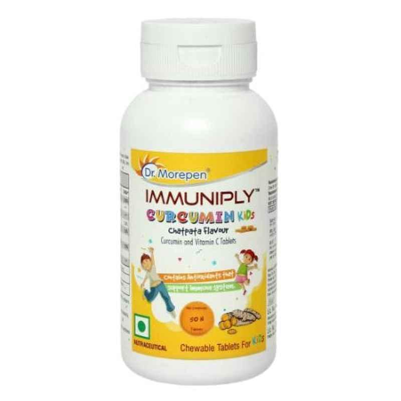 Dr. Morepen 50 Pcs Turmeric Curcumin Chewable Tablets & Vitamin C, Immunity Booster