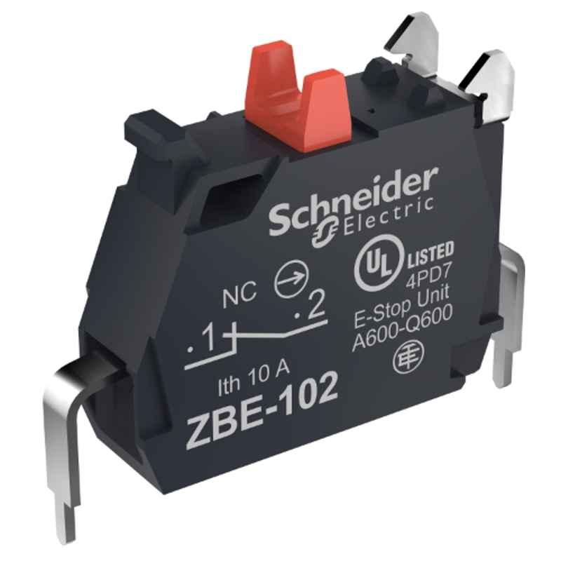 Schneider 1 NC Contact Block with Screw Clamp Terminal Connection, ZBE102N
