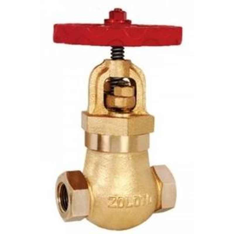 Zoloto 50 mm Straight Pattern Screwed Auxiliary Steam Stop Valve 1061