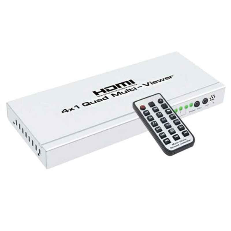 Generic 4x1 Quad Multi-Viewer HDMI Splitter with Remote Supports ARC