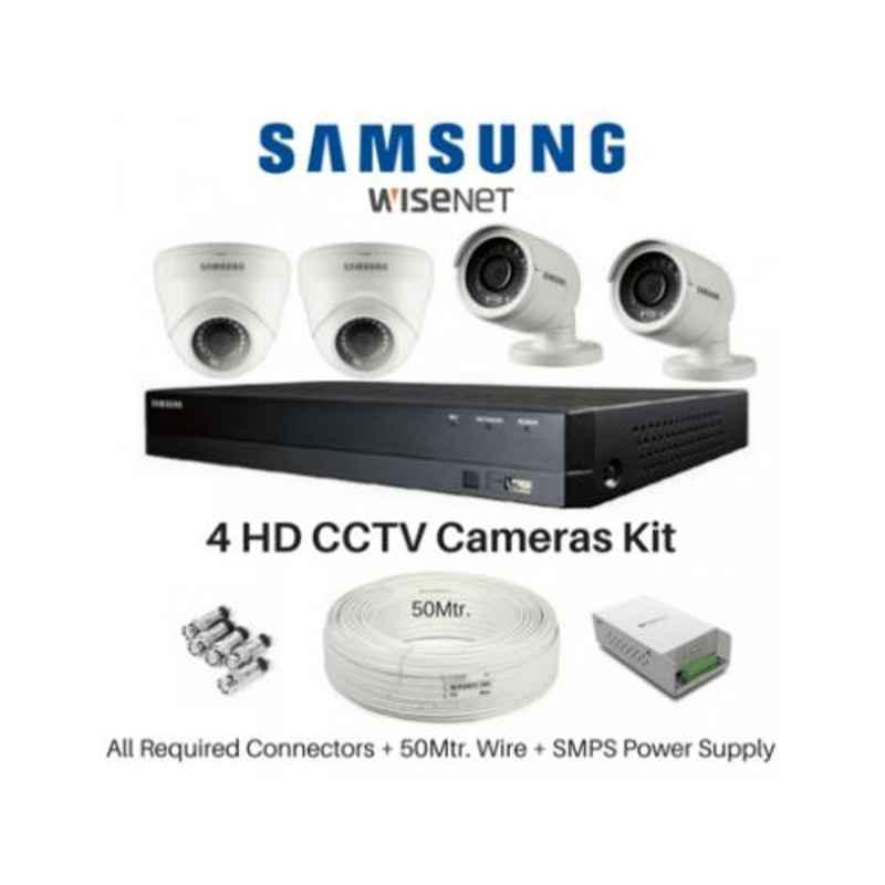 Samsung 4 Cameras 1080P with 4 Channel DVR Combo Kit
