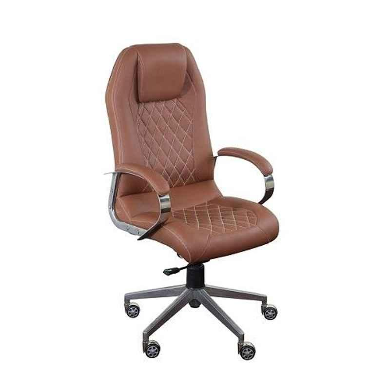 Sunview Leatherette Brown High Back Office Executive Chair