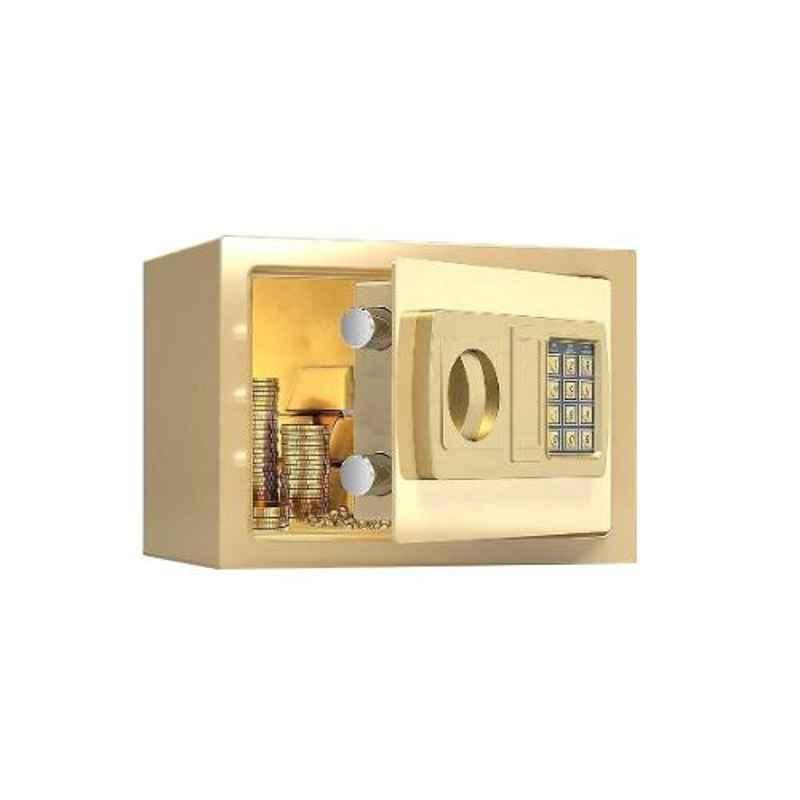 Swaggers Gold 8x12x8 inch Mild Steel Mini Portable Safe Locker