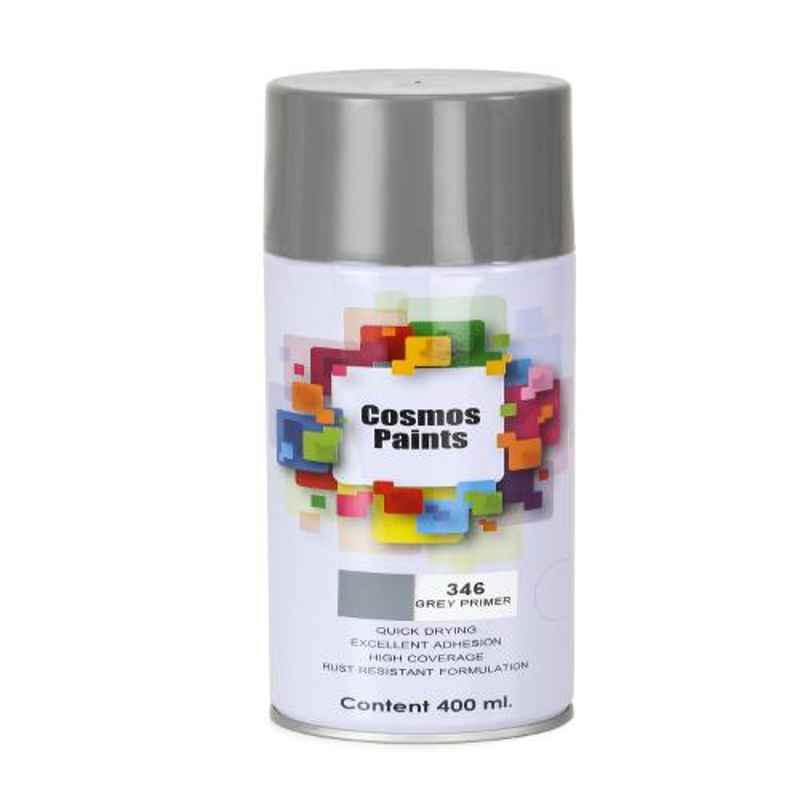 Cosmos 400ml Grey Primer Spray Paint, COS-346 (Pack of 6)