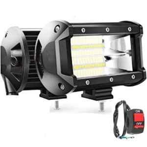JBRIDERZ 72W Fog Light Bar with On/Off Switch & Inside Fitting
