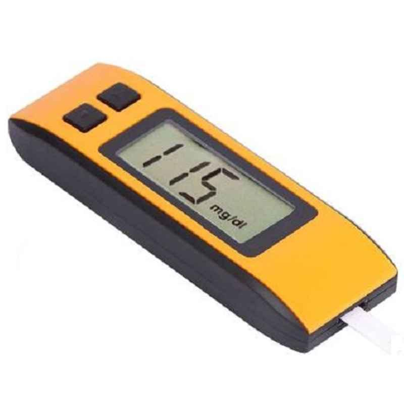 Pristyn Care Yellow & Black Digital Blood Glucometer with 25 Pcs Strips