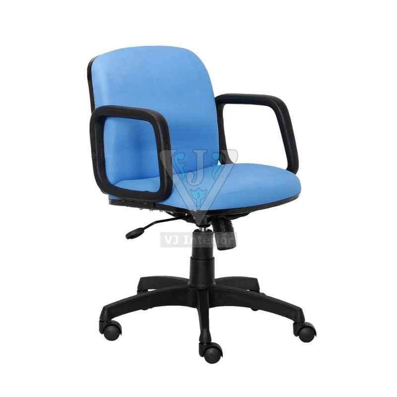 VJ Interior 18x18x16 inch Light Blue Crepe Low Back Mesh Executive Chair, VJ-1024