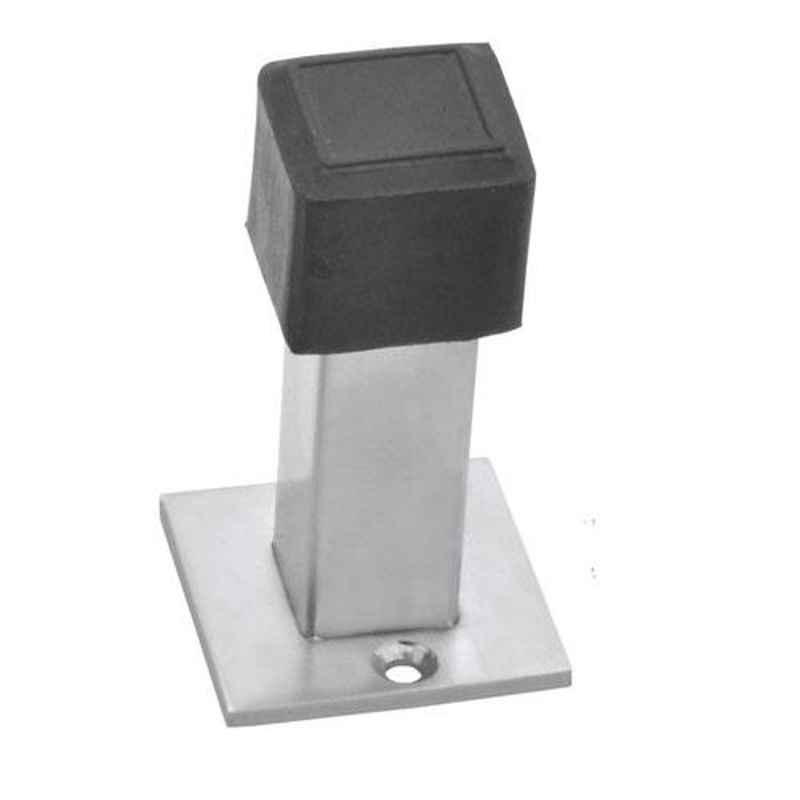 Nixnine Stainless Steel Back Silencer Door Stopper with Square Rubber Pad, SS_SQR_A-617_1PS
