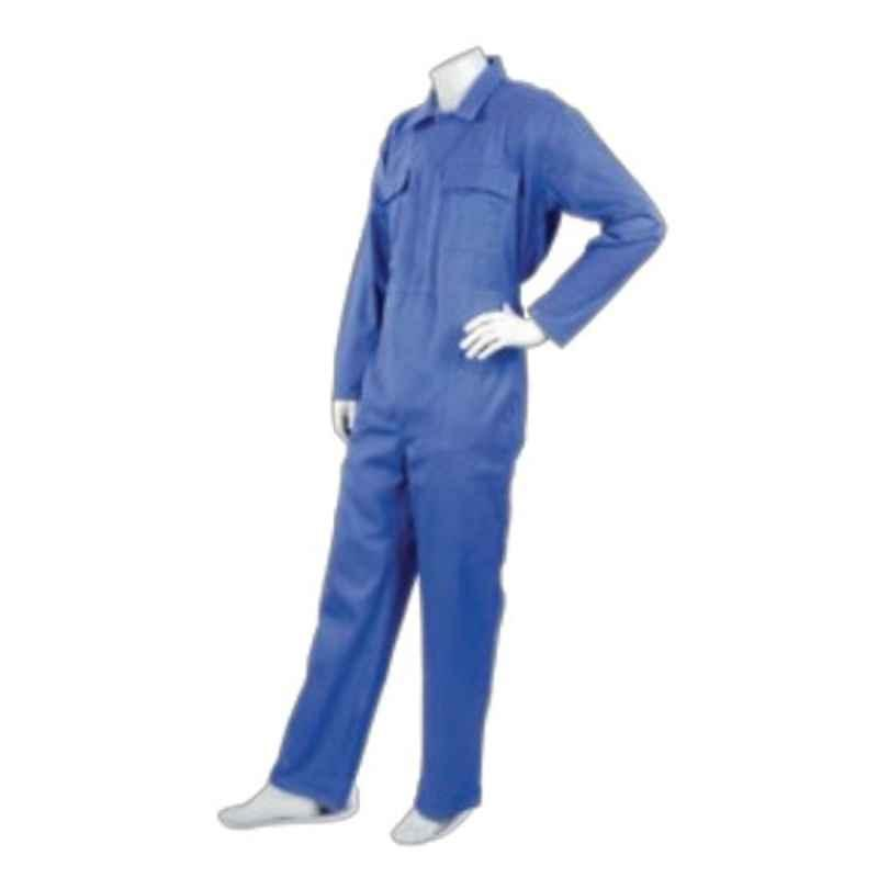 Techtion Comfy Mix Multipro White 165 GSM Plain Poly Cotton Coverall Suit, Size: XXL