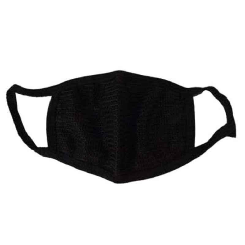 Love4ride Cotton Black Bike Riding Pollution Face Mask for Men & Women (Pack of 8)