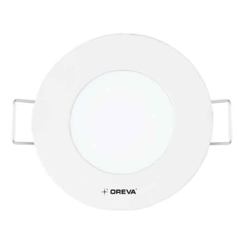 Oreva Regular 6W 6500K Round Cool White LED Panel Light, ORPL-R4-6W