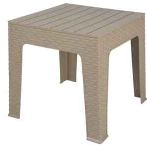 Supreme Jazz Dark Beige Plastic & Polypropylene Square Outdoor Table