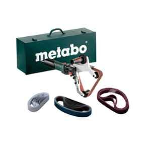 Metabo RBE 15-180 1500W Wraparound Tube Sander Set with Metal Carry Case, 602243500