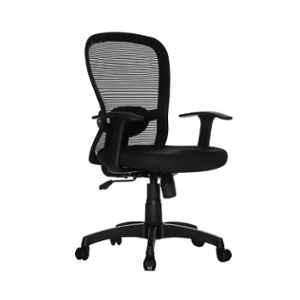 Teal Helicon MB Mesh Black Mid Back Office Chair, 19001973